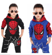 Spiderman Casual Hooded Two Piece Set