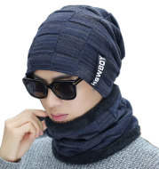 Padded knitted hat