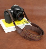 Embroidered camera strap