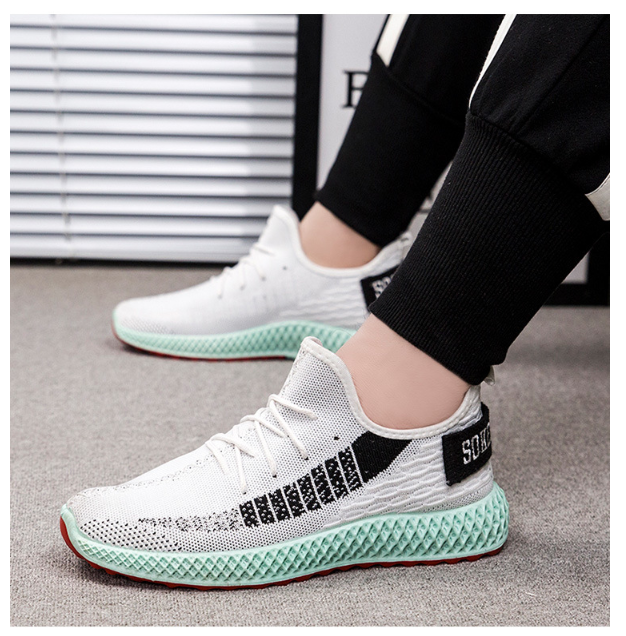 3350172464610 Flying woven breathable casual color sports shoes