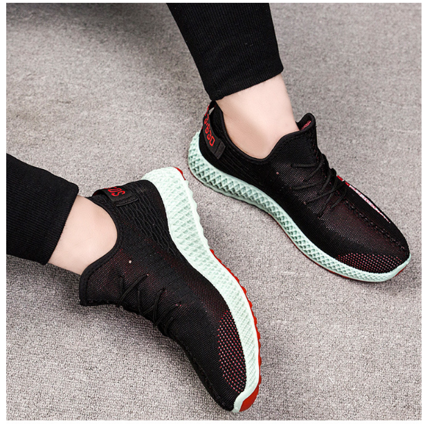 433013976427 Flying woven breathable casual color sports shoes