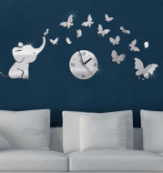 new sale real special offer Butter fMirror clock watch clocks Living Room Quartz Acrylic Geometric Needle