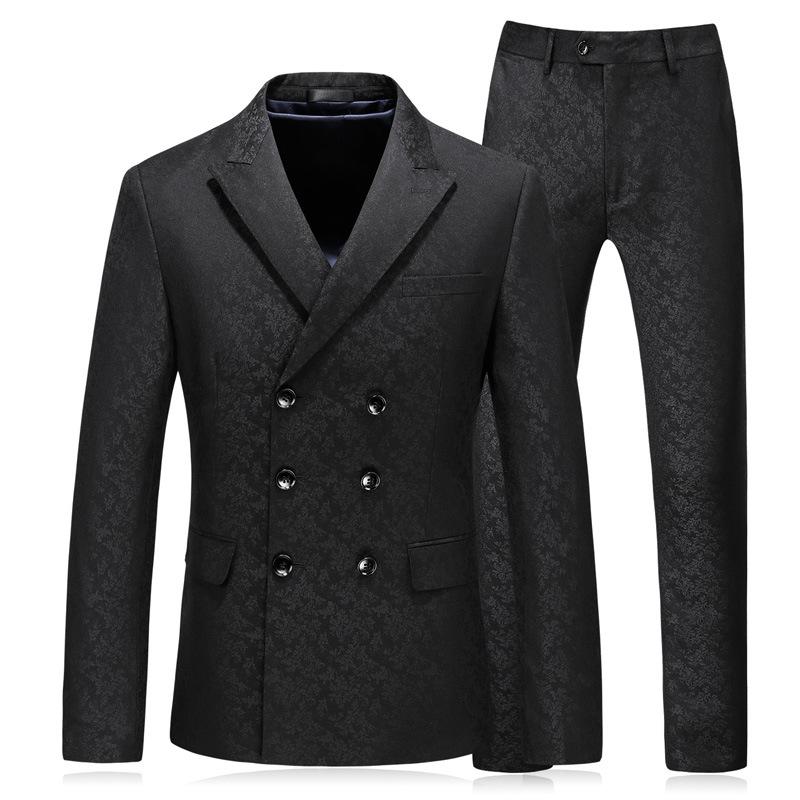 69386842882638 Slim suit three-piece suit