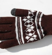 Touch screen gloves thick brushed warm touch screen gloves