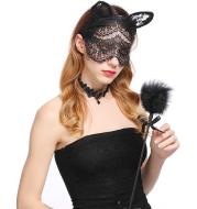 New sexy girl temptation sexy headband Halloween accessories lace cat veil headband