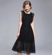 Medium length sleeveless dress