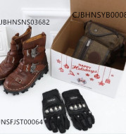 Boots  motorcycle gloves canvas pocket