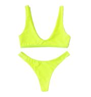 Ensemble bikini fluo
