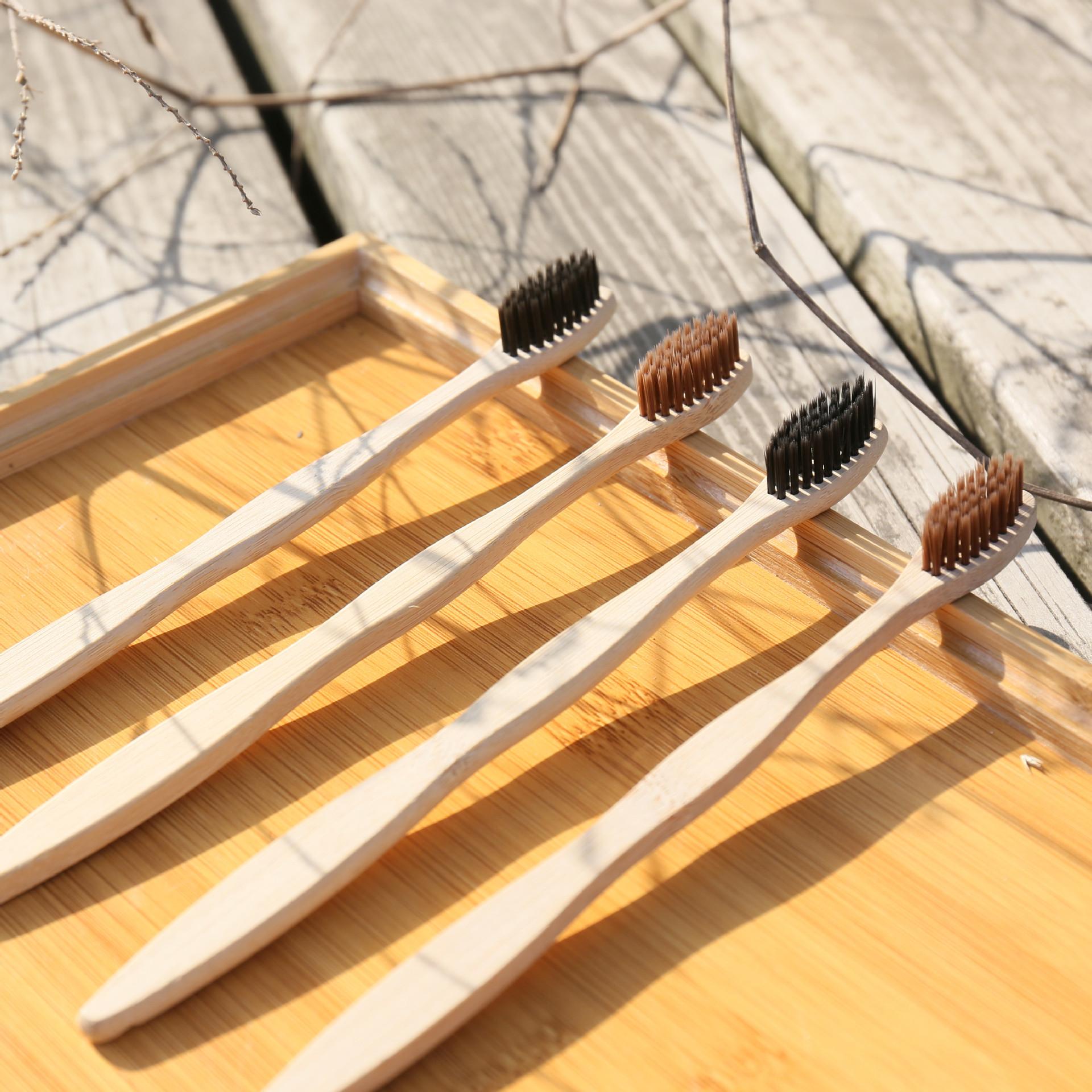Natural Organic Bamboo Toothbrush Eco-Friendly Wood