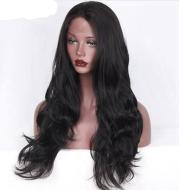Chemical fiber front lace wig headgear European and American popular models Chemical fiber half hand hook wig