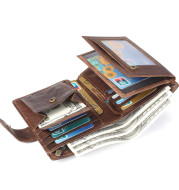 Multi-card casual vintage leather wallet