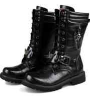 Trend high men's boots military boots men's cowboy boots men's boots