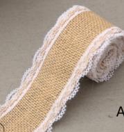 Lace 5CM wide linen roll DIY handmade Christmas decoration linen wedding crafts