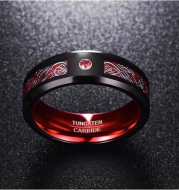 Celtic Dragon Tungsten Carbide Rings