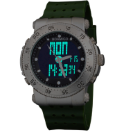 BOAMIGO watch sports waterproof watch double display watch military style watch silicone watch band watch