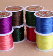 Colorful elastic wire chain glass wire to make beads bracelet wire rope fishing line