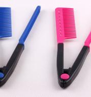V-shaped clip messy hair comb