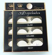 3 pairs of handmade A02 false eyelashes black stems natural slim realistic false eyelashes clustered