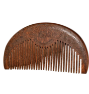 Portable portable teeth gold wire sandalwood comb