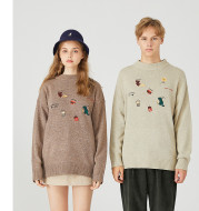 Young couple wearing sweaters