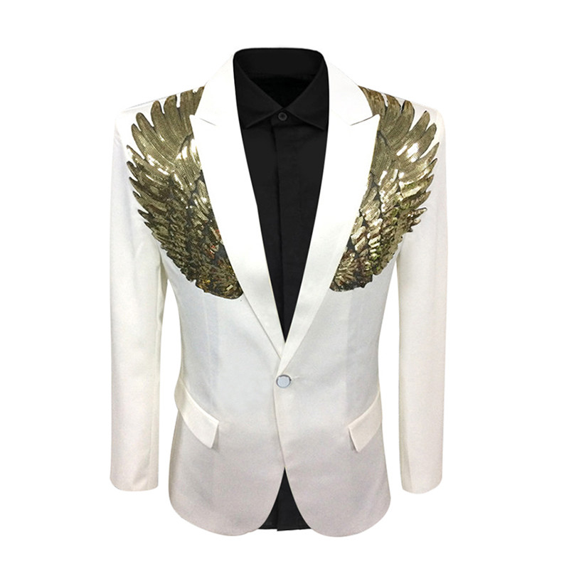 12687575201204 Dress suit sequined wing costume