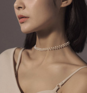 Hand-woven pearl necklace