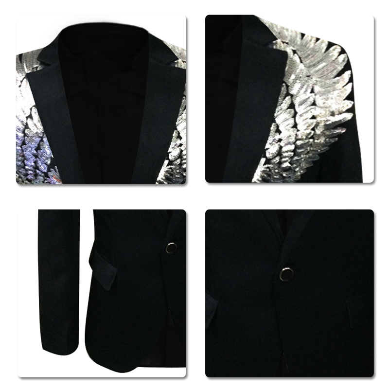580739084062 Dress suit sequined wing costume