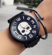 Large dial quartz student watch Shantou couple watch