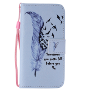 Feather Samsung note5 mobile phone case s6edge mobile phone holster creative new s9plus flip phone holster