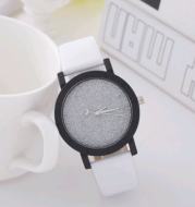 Stylish and simple starry belt watch, female frosted quartz watch student couple watch pair