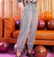 Plaid harem pants, leg casual pants