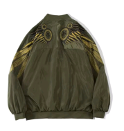 Youth Jacket Men's Embroidered Wings Spring and Autumn Long Sleeve Jacket Student Casual Top