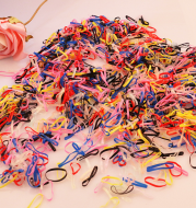 About 2,000 colorful children's baby colored rubber bands, hair band hair rope, head rope disposable rubber band