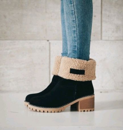 black Snow Boots for Womens