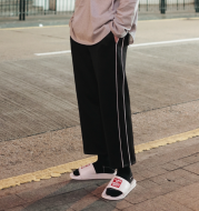 Pants male Korean version of the trend of men's trousers pants loose wild casual pants students straight wide leg sweatpants