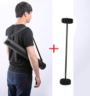 Plastic Archery Arrow Case Carrier With Strap Adjustable Arrow Quivers Back Black with Arrow Inserts