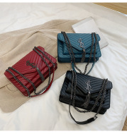 Fashion rhombus tassel shoulder bag