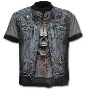 Short sleeve large size round neck 3D digital print T-shirt