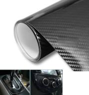 Car Styling Glossy Black 5D Carbon Fiber Vinyl film Car Wrap