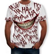 3D stereo haha joker fashion short sleeve T-shirt