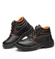 Work shoes steel toe high-top work shoes