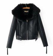 Zip cropped cotton coat