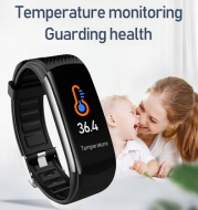 Temperature Kids Smart Wristband Girls Boys Smart Band Children Bluetooth Fitness Bracelet Clock Student Android IOS Heart Rate