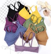 Seamless wavy bra with bra