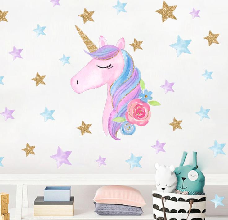 Unicorn Wall Stickers Size: 60 x 40 cm