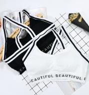 Sports bra black and white straps