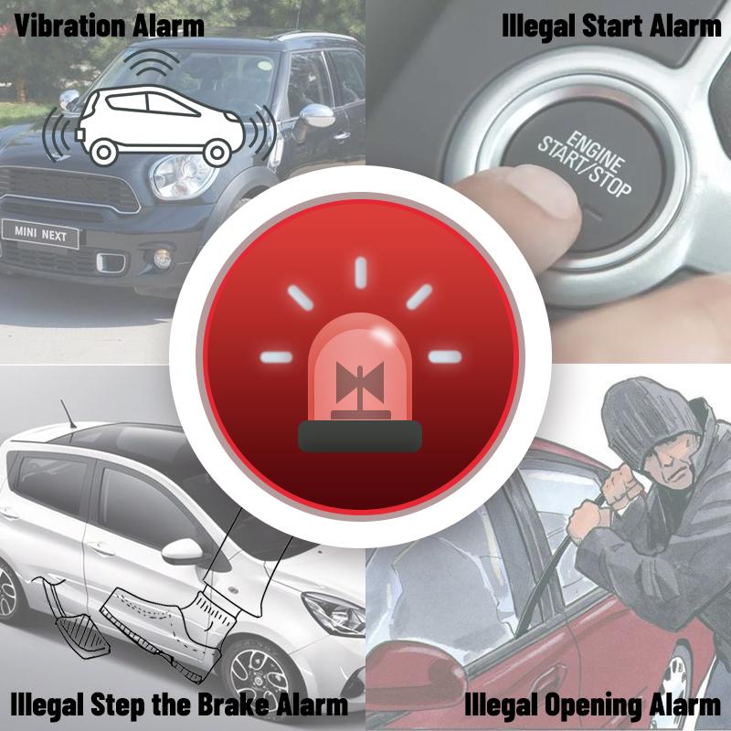 K16 12V Universal Keyless Entry Car Alarm Security System