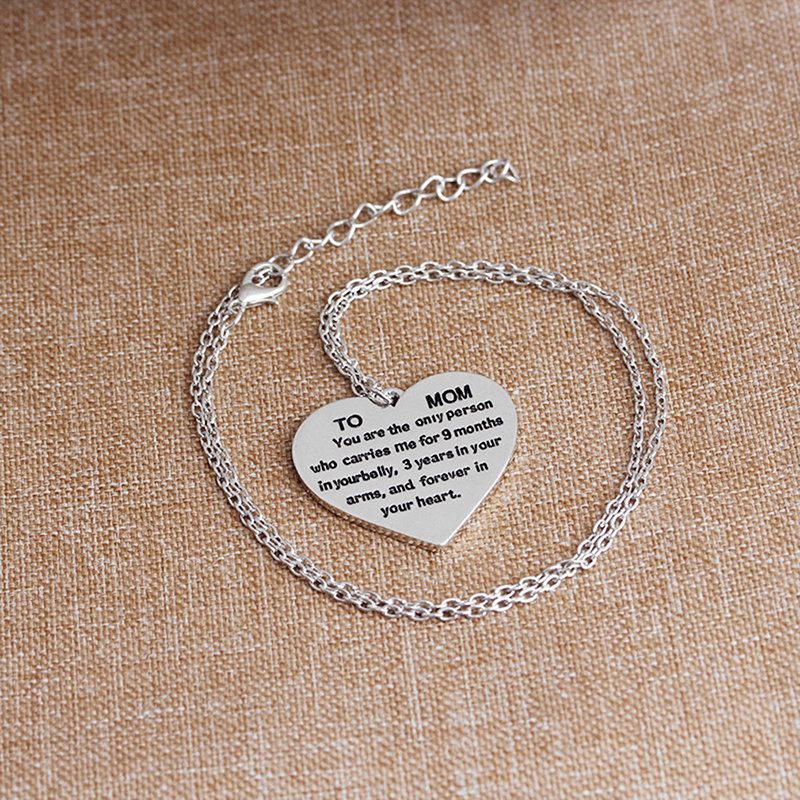 Letter Heart Necklace For Mom