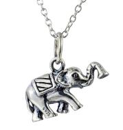 Elephant pendant animal necklace retro Thai silver