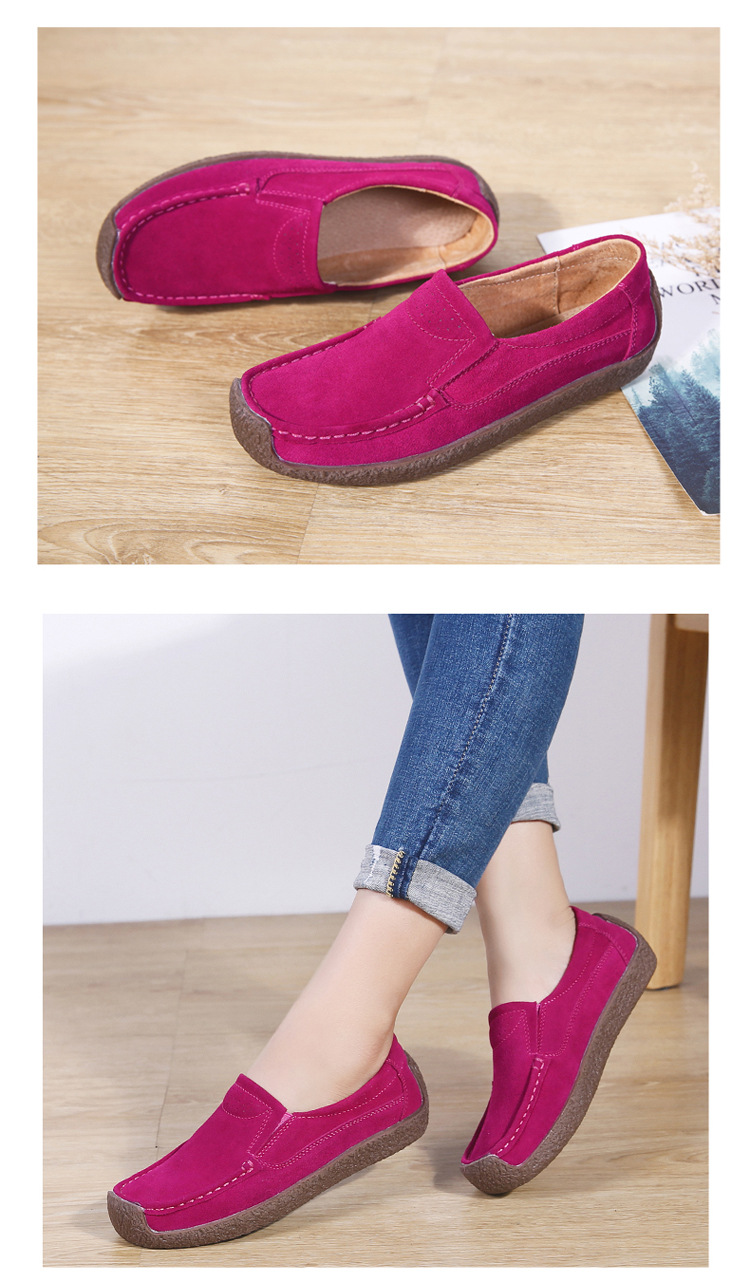 read casual flat loafers